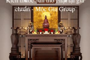 Kích thước bàn thờ Phật tại gia chuẩn