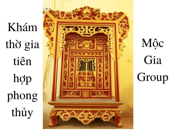 Khám thờ đẹp hiện đại Mộc Gia Group