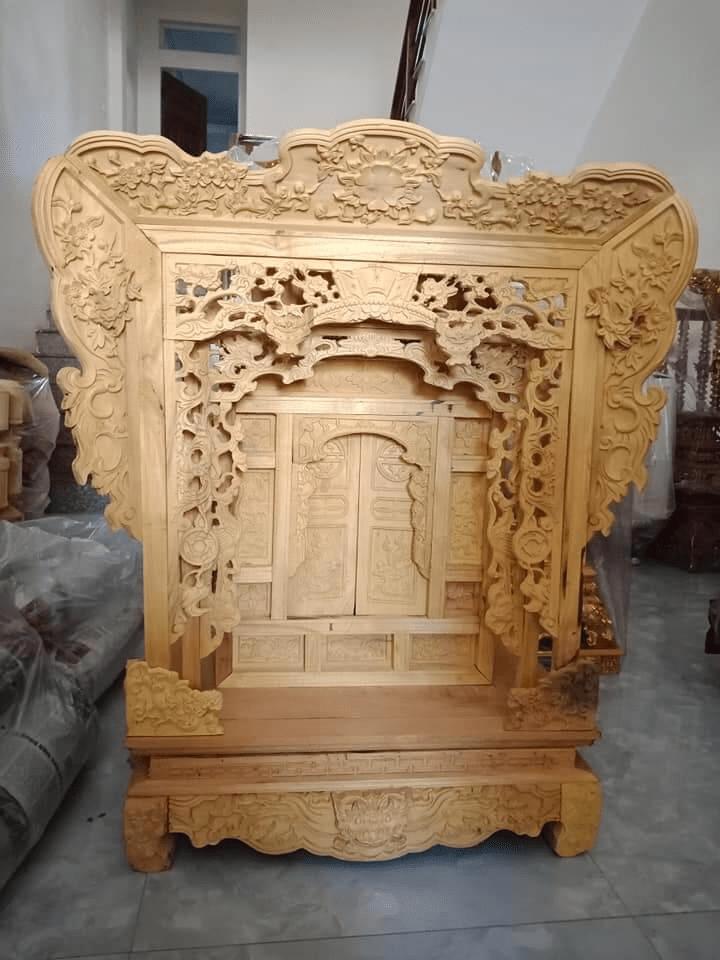 Khám thờ gia tiên gỗ