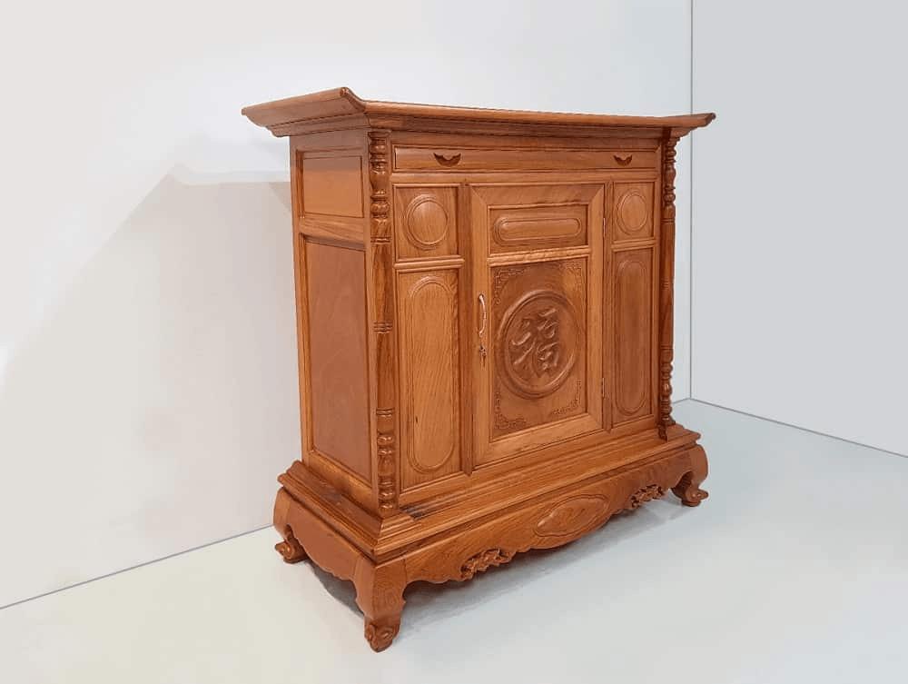 Bàn thờ gỗ Gõ đỏ thiết kế hiện đại, đẹp