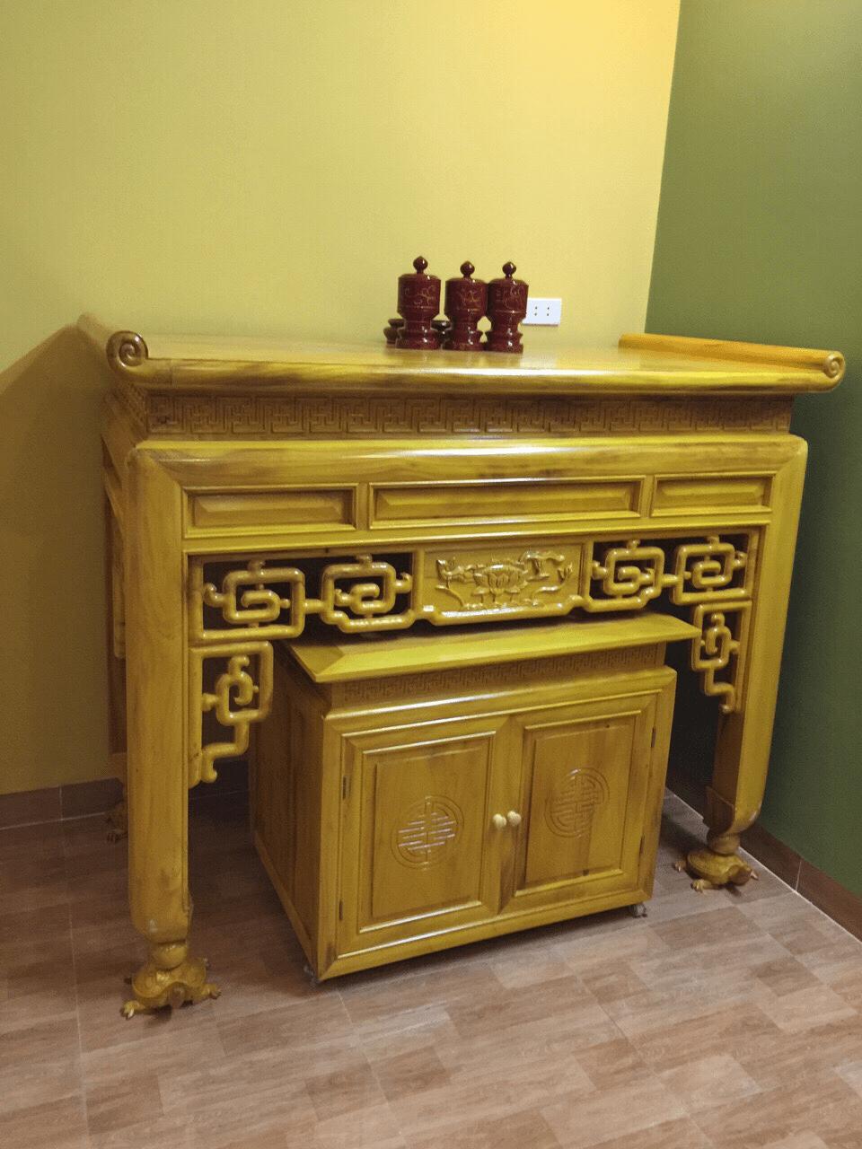 Mộc Gia địa chỉ sản xuất và phân phối bàn thờ gỗ Mít chất lượng