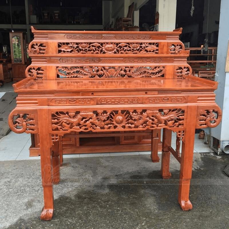 Bàn thờ tam cấp bằng gỗ đẹp, hiện đại