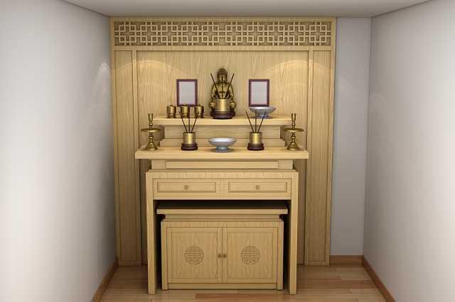 Kích thước tủ thờ phù hợp với không gian thờ