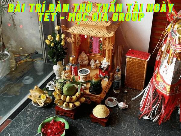 Bài trí bàn thờ thần tài ngày tết