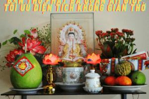 Bàn thờ Phật Bà Quan Âm giúp tối ưu diện tích không gian thờ