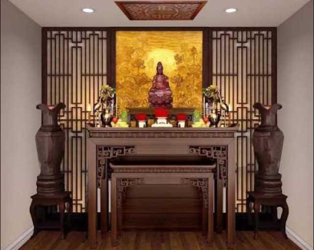 Bàn thờ Phật Bà Quan Âm có ý nghĩa phong thủy to lớn