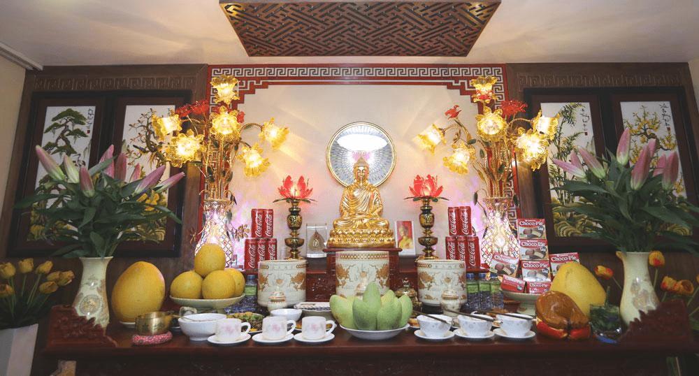 Cách đặt bàn thờ Phật và gia tiên
