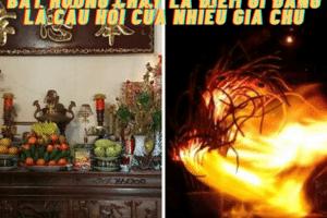 Bát hương cháy là điềm gì đang là câu hỏi của nhiều gia chủ