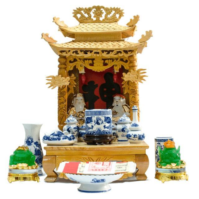 Các vật không thể thiếu trên bàn thờ Thần Tài