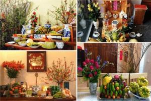bày bàn thờ ngày tết gồm những gì