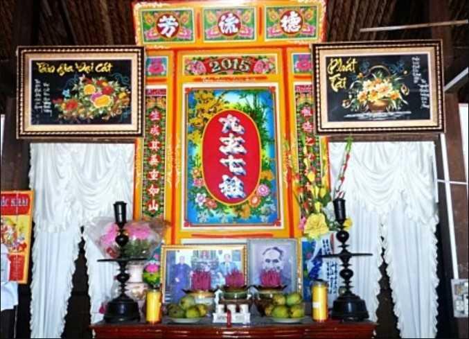 Chọn tranh thờ tổ tiên theo với màu sắc nhã nhặn