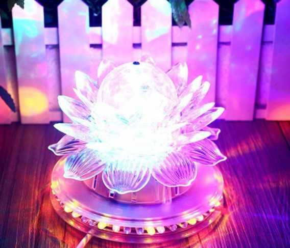 Đèn led bàn thờ hoa Sen