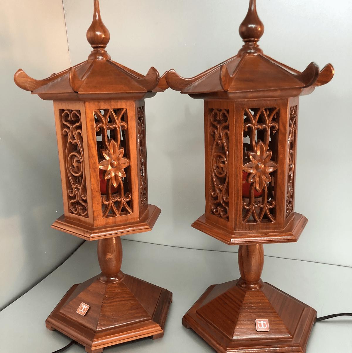 Đèn thờ bằng gỗ mang ý nghĩa quan trọng trong cuộc sống