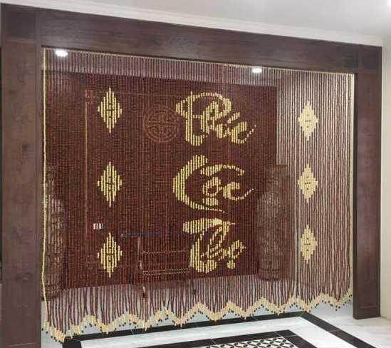 Giá các loại rèm phòng thờ khá phù hợp với túi tiền