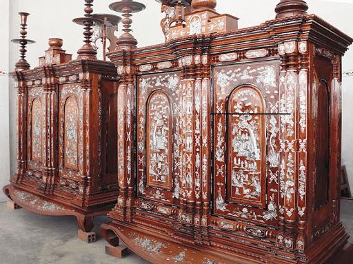 Hình ảnh tủ thờ Gò Công truyền thống
