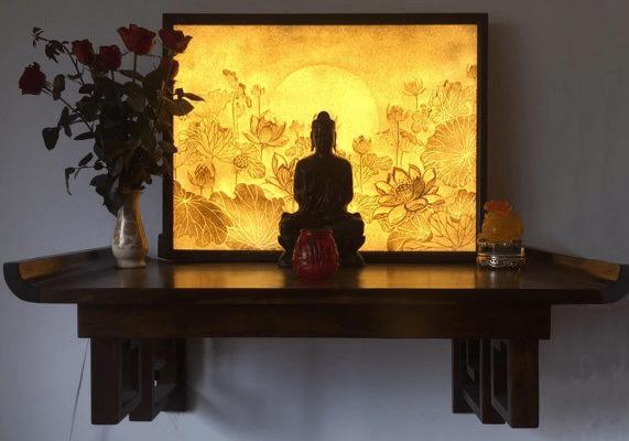 Kệ thờ Phật - Nơi linh thiêng và thanh tịnh
