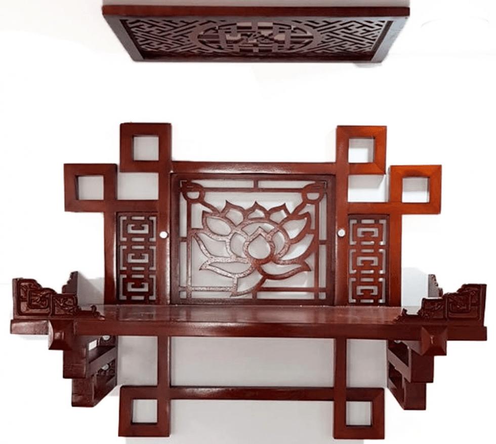 Kệ thờ Phật treo tường độc đáo