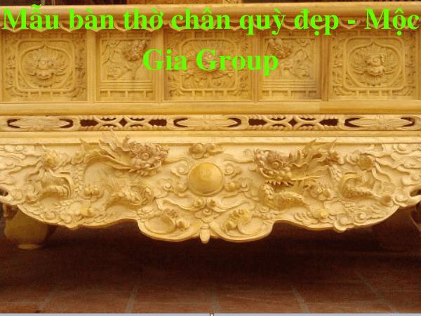 Mẫu bàn thờ chân quỳ đẹp - Mộc Gia Group