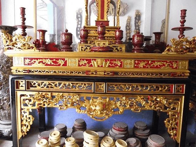 Kích thước cơ bản của mẫu bàn thờ sơn son thếp vàng