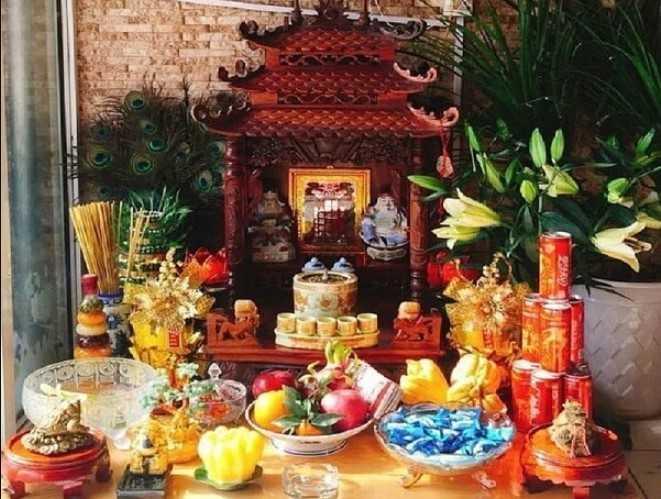 Mâm ngũ quả bàn thờ Thần Tài
