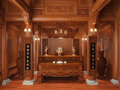 Mẫu bàn thờ cổ đẹp - tô điểm thêm sự sang trọng cho ngôi nhà của bạn