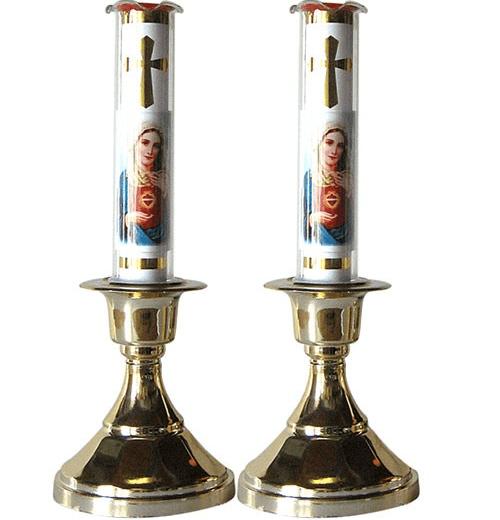 Mẫu bàn thờ đèn led Công Giáo