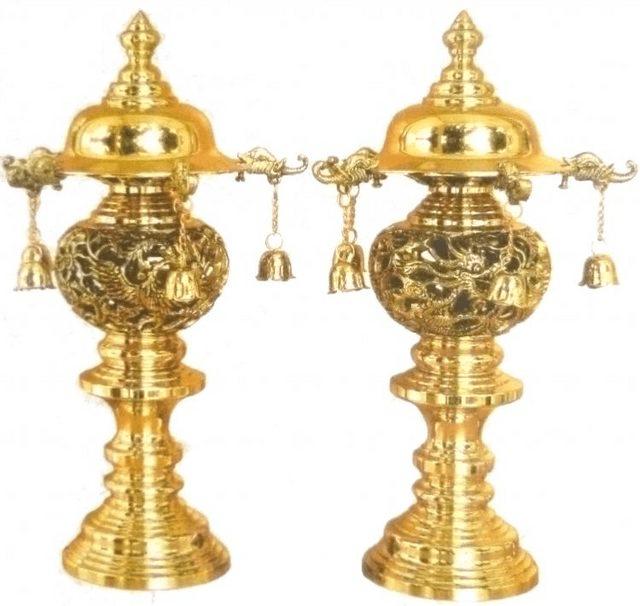 Mẫu đèn được làm từ đồng