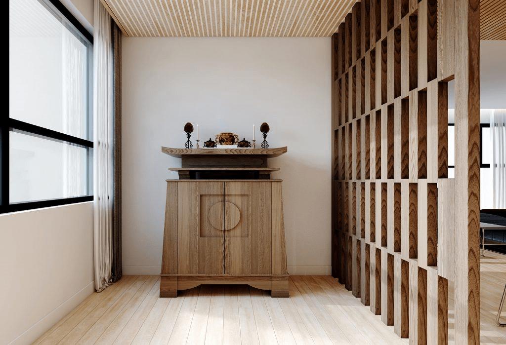 Mẫu tủ thờ gỗ công nghiệp bền bỉ theo năm tháng