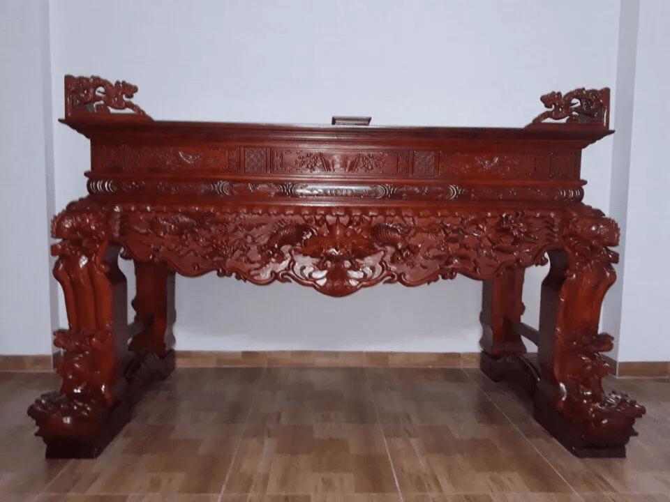 Sập thờ gỗ Mít chân 22
