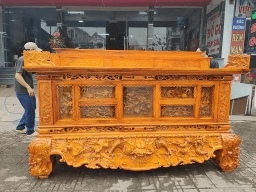 Sập thờ gỗ Mít đẹp do Mộc Gia sản xuất
