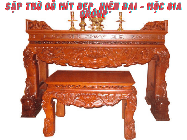 Sập thờ gỗ Mít đẹp, hiện đại