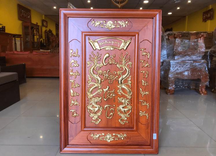 Tranh thờ Cửu Huyền Thất Tổ bằng gỗ đẹp