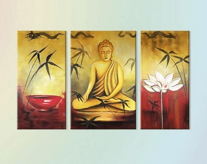 Tranh thờ Phật được nhiều gia đình lựa chọn sử dụng