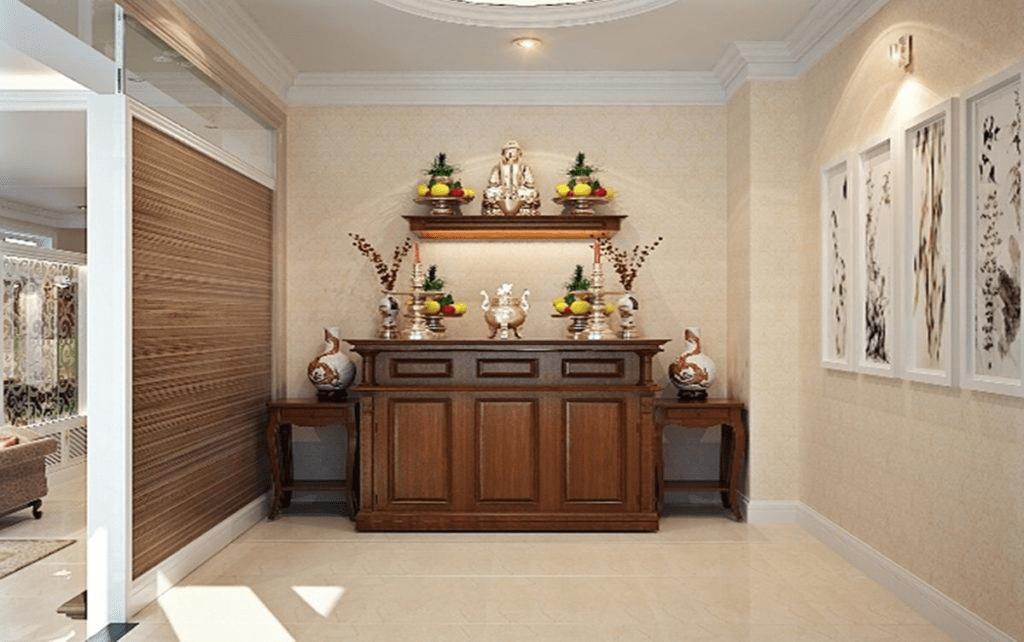 Tủ thờ gỗ Hương đá