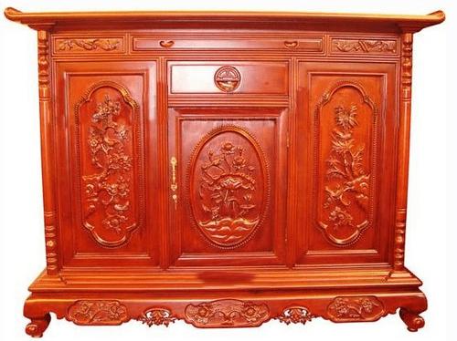 Tủ thờ gỗ Hương đỏ