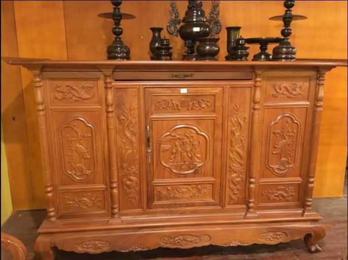 Tủ thờ gỗ Mít đẹp