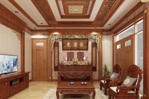 phòng khách kết hợp phòng thờ đẹp