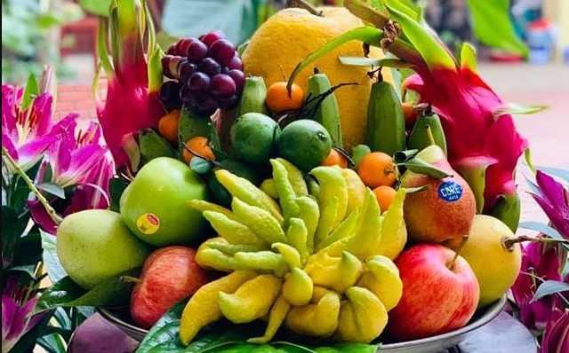 Hoa quả là lễ vật quan trọng thắp hương ngày rằm tháng giêng