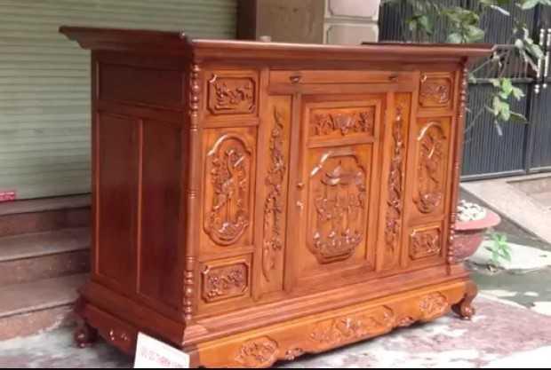 Tủ thờ gỗ Gụ Đồng Kỵ
