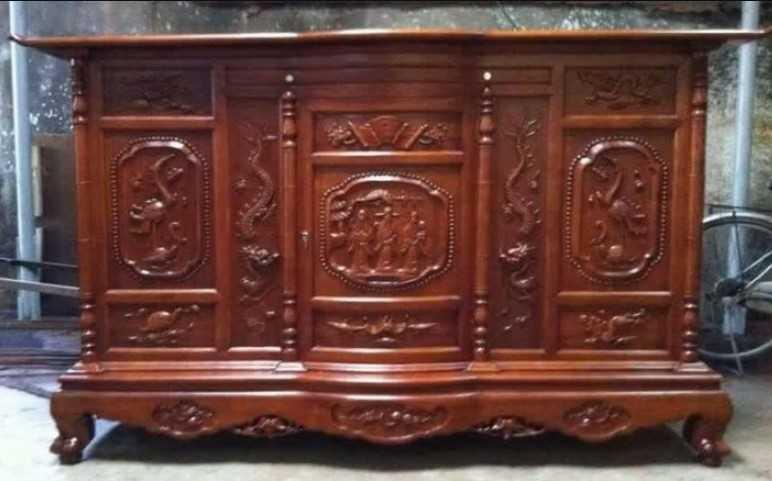 Tủ thờ gỗ gụ đẹp, hiện đại