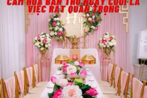 Cắm hoa bàn thờ ngày cưới