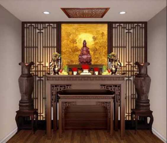Không gian thờ Phật Quan Âm