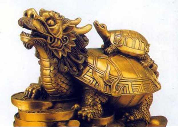 linh vật phong thủy rùa đầu rồng