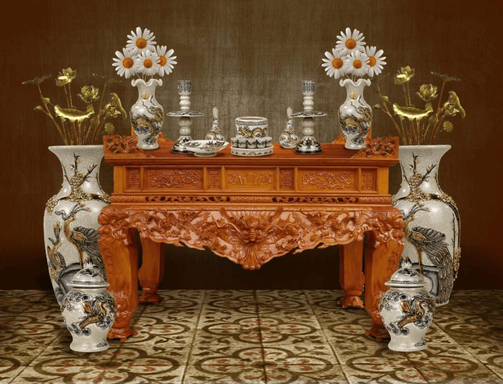 Thước lỗ ban là công cụ đo kích thước bàn thờ chuẩn nhất