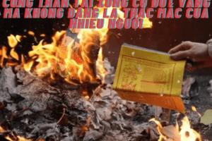 Cúng thần tài xong có đốt vàng mã