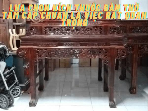 Kích thước bàn thờ 3 tầng