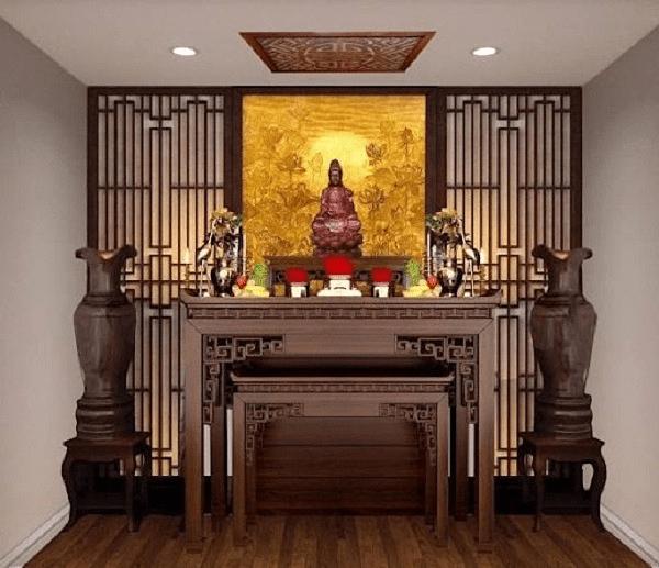 Kích thước chuẩn phong thủy cho bàn thờ đứng và tủ thờ