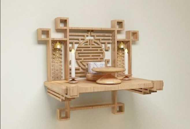 Kích thước của bàn thờ treo theo thước lỗ ban