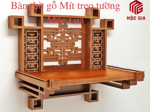 bàn thờ gỗ Mít đẹp hiện đại Mộc Gia